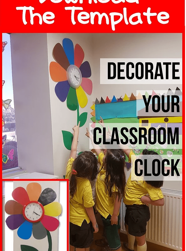 decorate your classroom clock freebie