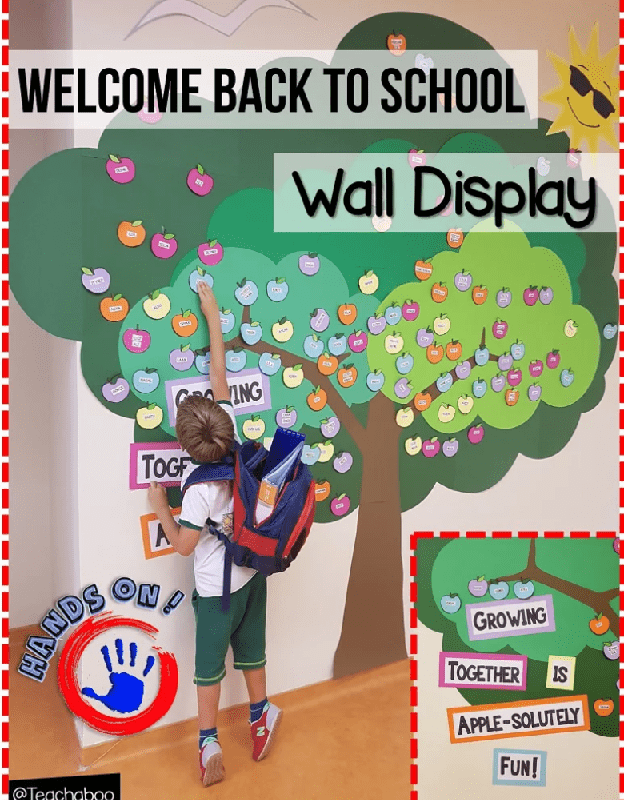 Welcome Back! Hands on Wall Display Teachaboo A Blog About Teaching English to Young Learners