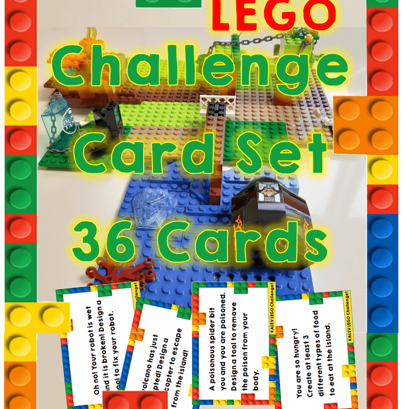 LEGO Challenge Cards Set (36 Cards) Freebie + Template