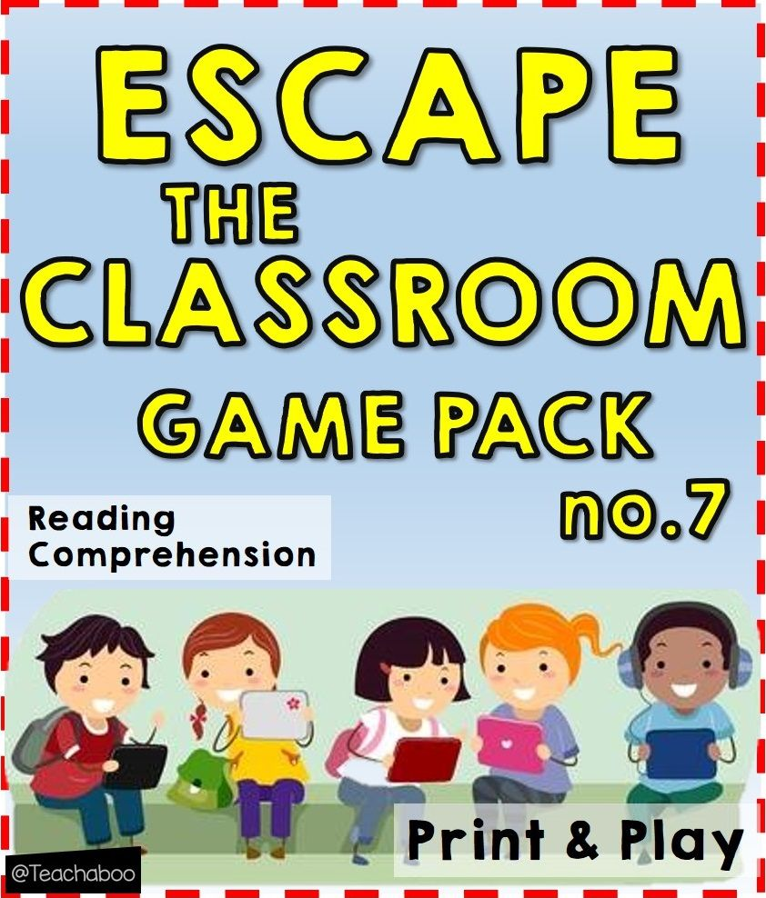 - Escape The Classroom Game Pack Freebie No.7 Reading