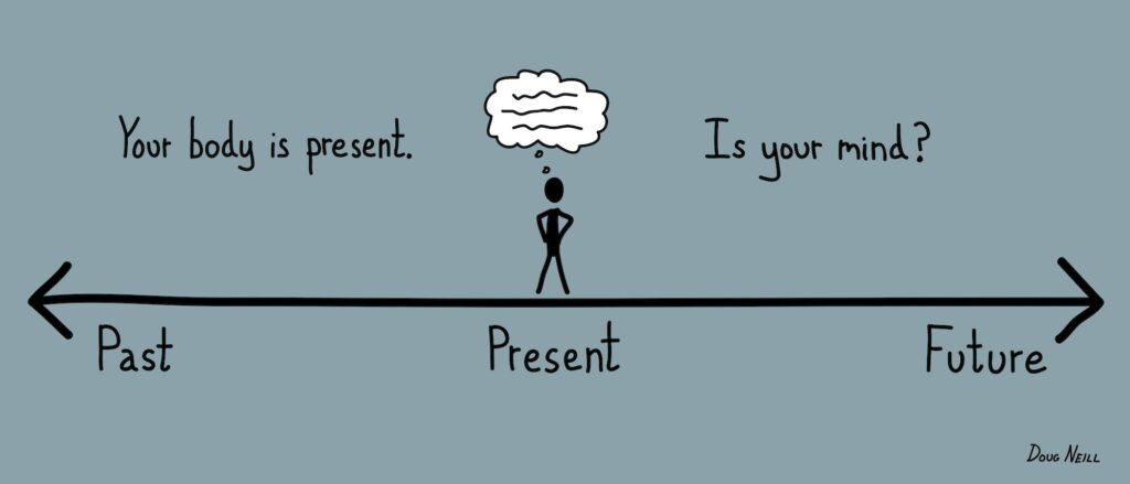 keep calm and stay present