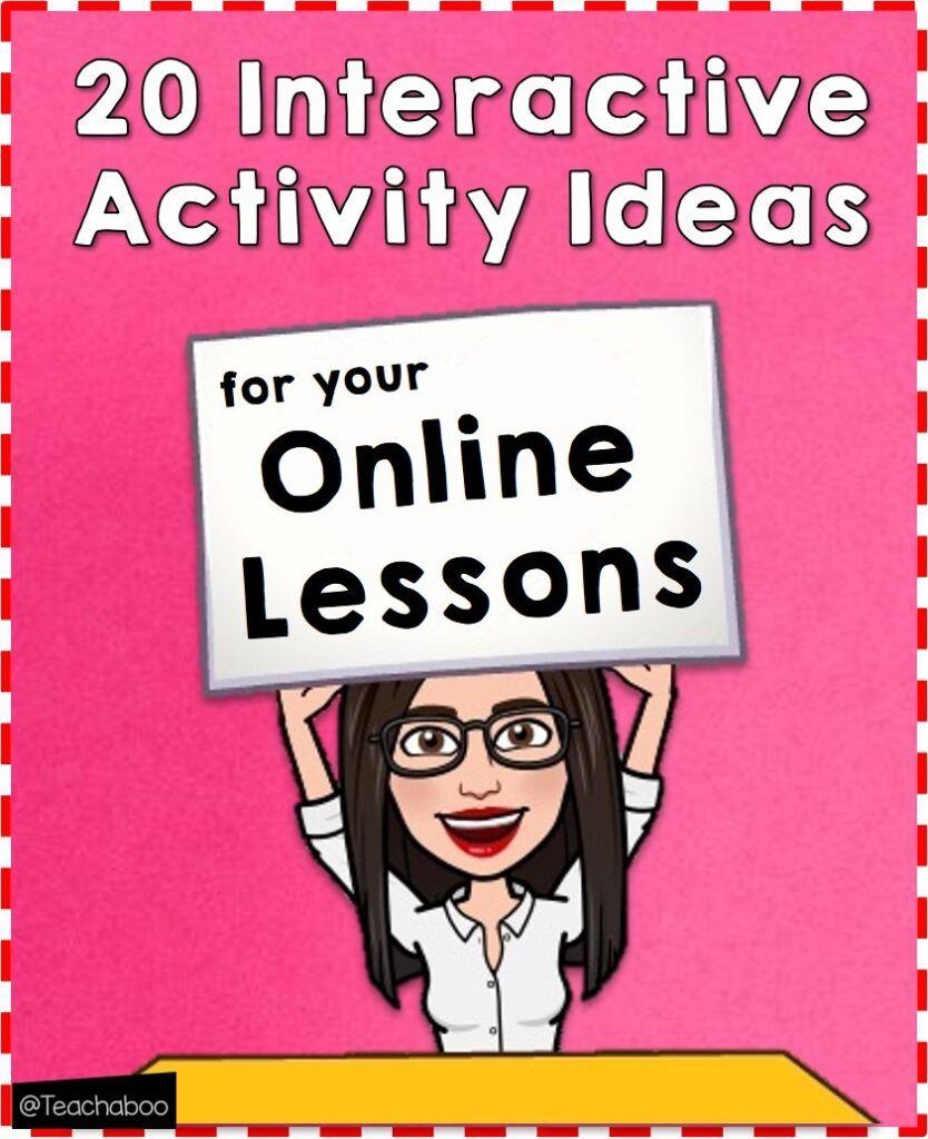 20 interactive activity ideas for your online lessons