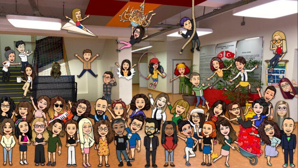 bitmoji virtual school design