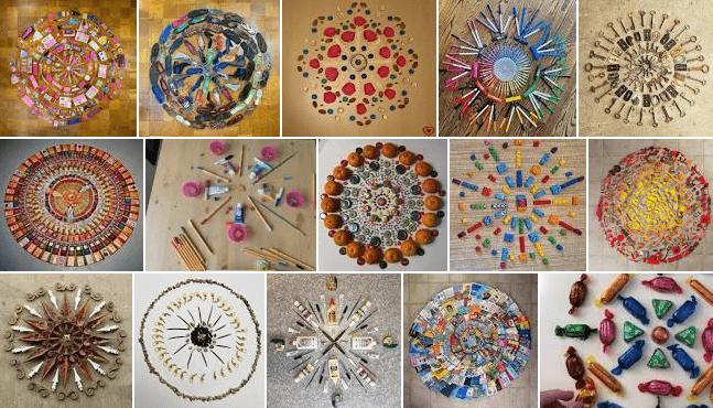 Found Objects Mandala