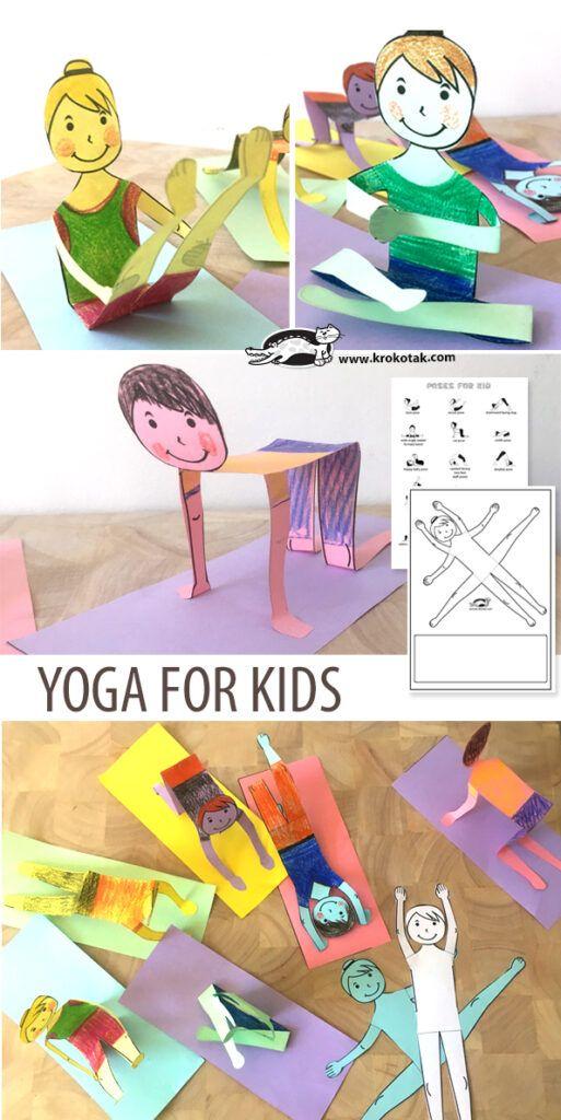 Krokotak Yoga Poses Craft Activity