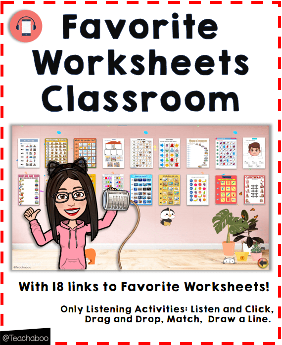Favorite Listening Worksheets Bitmoji Classroom Teachaboo